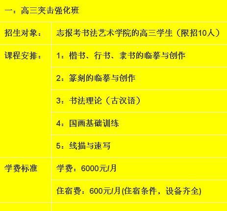 杭州望崖阁书法工作室书法高考培训班班级介绍